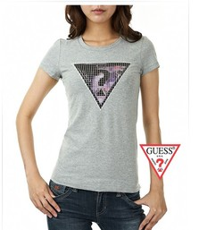 22.50EUR, 2018N guess donna tee shirt abordable cotton short sleeve sm  network silver 9d14391c0d9