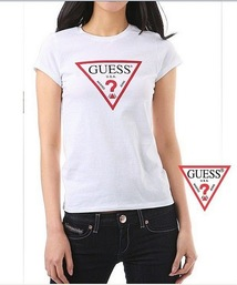 2018N guess donna tee shirt abordable cotton short sleeve sm usa white red 021be725554