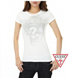22.50EUR, 2018N guess donna tee shirt abordable cotton short sleeve sm  washed white 555b5b9ec7b