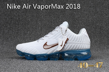 air vapormax flyknit baskets basses white blue
