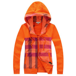 burberry sweat zippe a capuche femme pas cher rayures orange