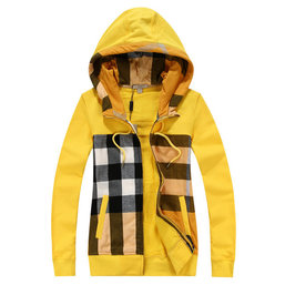 burberry sweat zippe a capuche femme pas cher rayures yellow