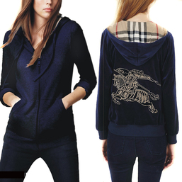 burberry sweat zippe a capuche femme pas cher big pony back