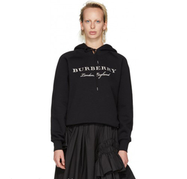 burberry sweat zippe a capuche femme pas cher embroidered logo