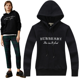 burberry sweat zippe a capuche femme pas cher embroidered london england black