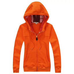 burberry sweat zippe a capuche femme pas cher zipper orange