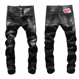 dsquared2 jeans uomo super patched bleached slim-fit black graffiti