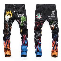 dsquared2 jeans uomo super patched bleached slim-fit flame fire