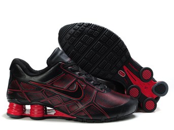 nike shox -turbo12 chaussures hommes 2018N new style leather black red