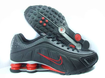 buon mercato nike shox r4 -red-black-red