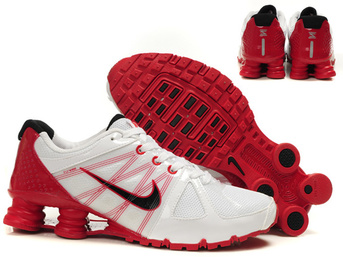 cheap nike shox agent rivaly blanc noir rouge man shoes