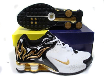 shox r4 torch -black-white-gold