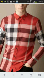 46.90EUR, burberry chemise uomo 2018N maniche lunghe coton 7399 rouge,chemise  burberry occasion 381776447ee