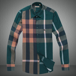 burberry chemise uomo 2018N maniche lunghe coton 7399 vert,chemise burberry  grande taille 6306519eee7
