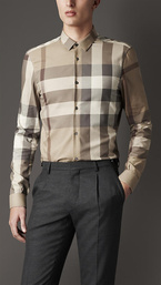 chemise burberry coton uomo new style 2018N chemise longues grille bt0686 37ed57862ce