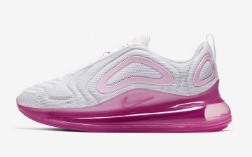 nike air max 720 femme running blanche rose