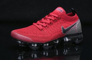 nike air vapormax 2019 red flyknit black