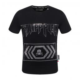 promos et ventes flash t-shirt philipp plein warning wave