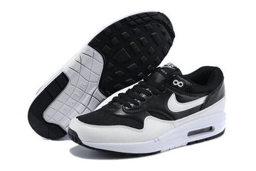 new concept 610eb 65df5 55.00EUR, chaussures nike air max 1 id femmes collection noir blanc