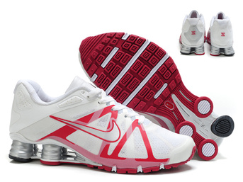 chaussures nike shox roadster 12 populaire 2018N hommes blanc argent red