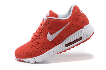 chaussures nike air max 90 current cuir red white femmes
