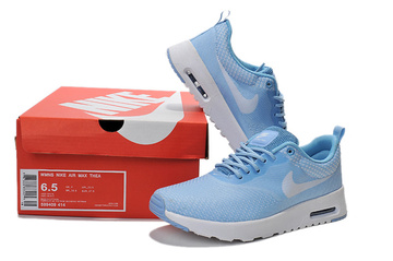 femmes nike air max thea baskets run girl blue