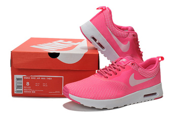 donna nike air max thea baskets run pink white