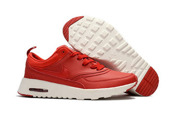 donna nike air max thea 87 baskets fille rouge