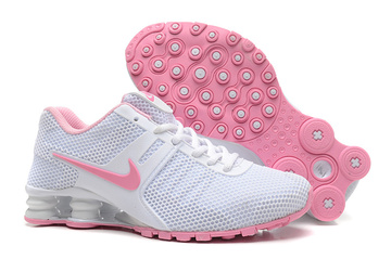 women shoes nike shox current running nouveaux white rose