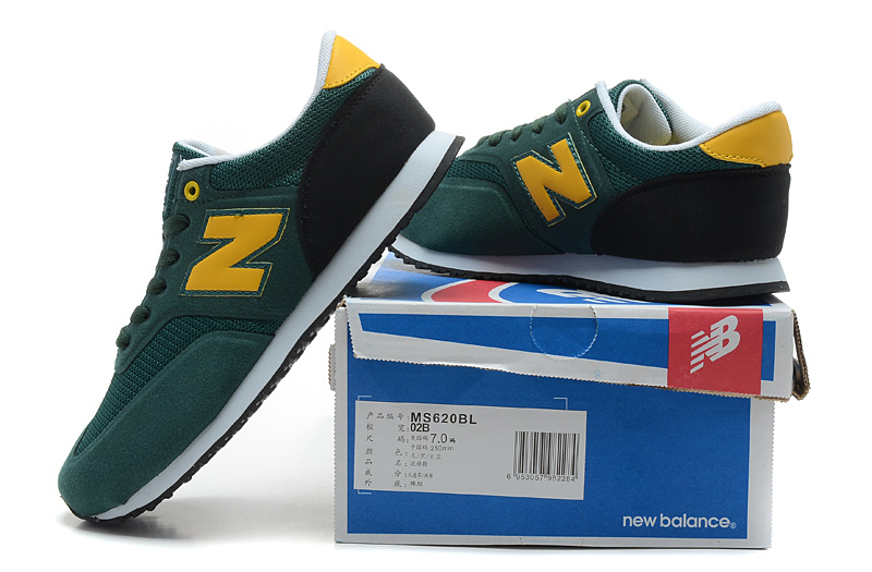 2018N new balance 620 discount sport shoes man london ms620bl green yellow