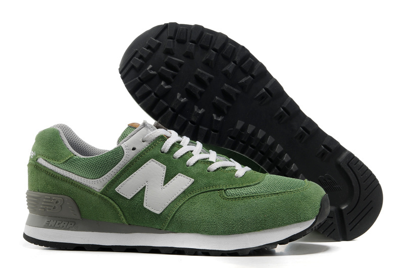 new balance 574 uomo green