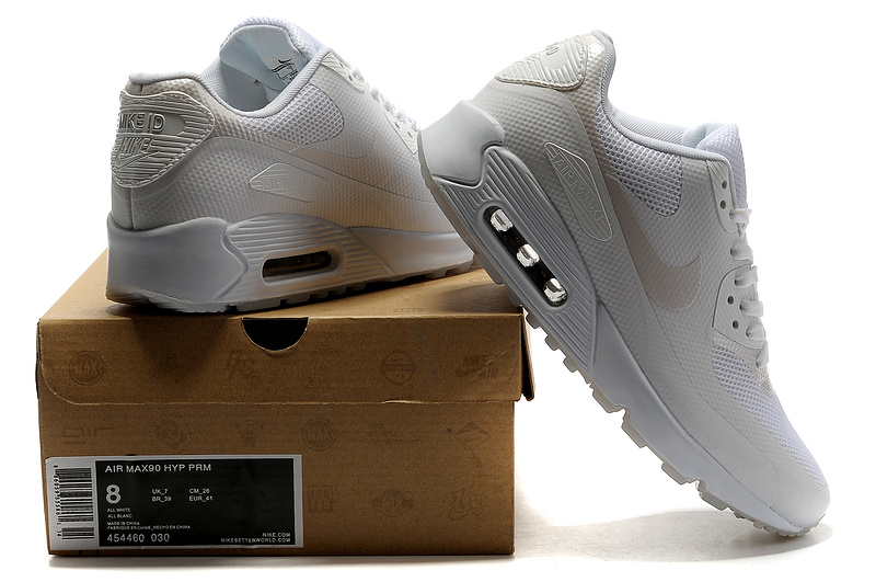 2018N nike air max 90 hyp prm wholesale women shoes france all white