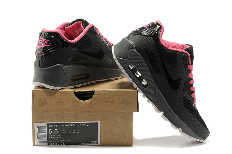 2018N nike air max 90 hyp prm wholesale women shoes france black pink