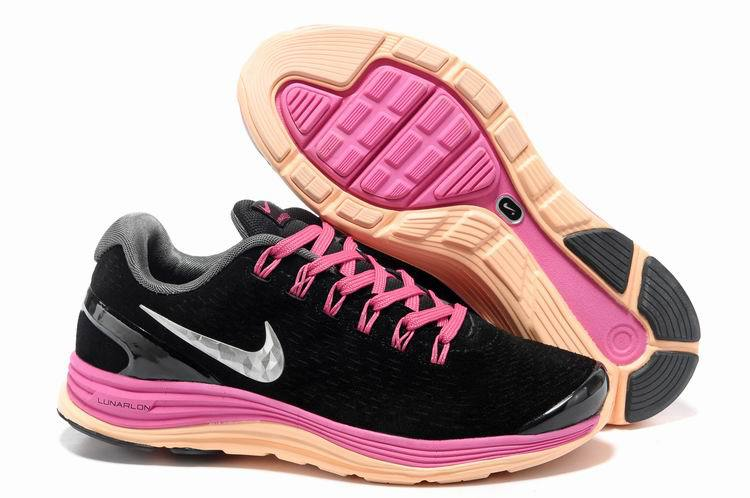 2018N nike lunarglide+4 mesh women shoes france tendance moon black pink