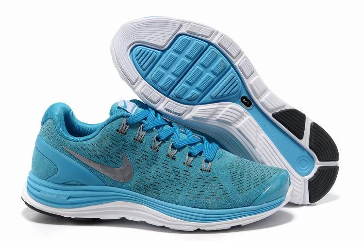2018N nike lunarglide+4 mesh women shoes france tendance moon blue white