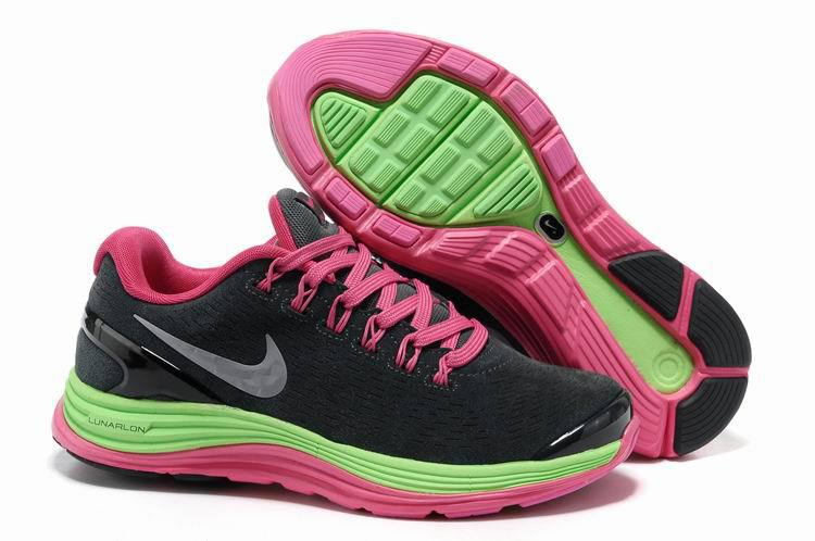 2018N nike lunarglide+4 mesh women shoes france tendance moon pink green