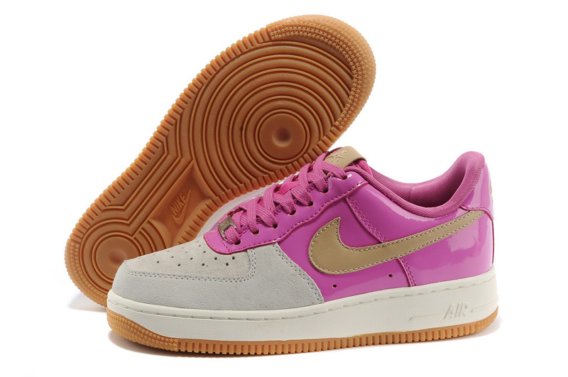 2018N nike air force 1 shoes femme pas cher classique derapage basket ball pink blanc