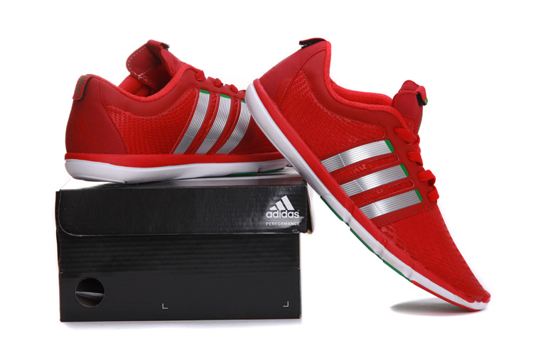 adidas adipure gazelle chaussures homme sport jogging pas cher rouge