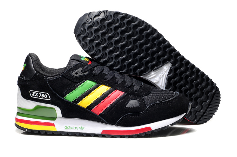 adidas zx 750 retro running jogging men shoes 2018N wto black green