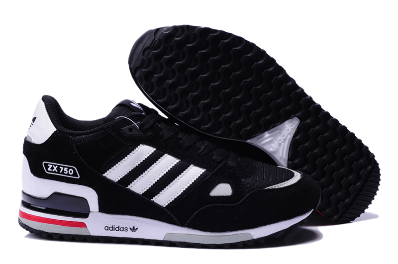 adidas zx 750 retro running jogging men shoes 2018N wto black white