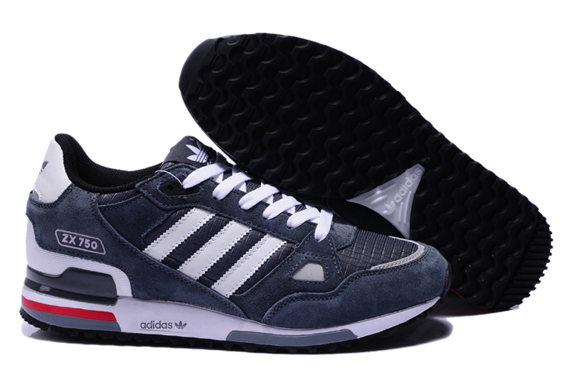 adidas zx 750 retro running jogging men shoes 2018N wto blue white