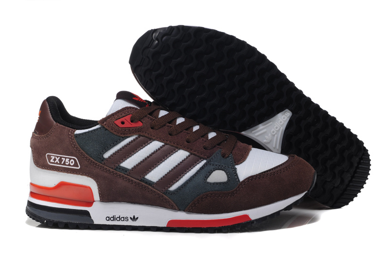 adidas zx 750 retro running jogging men shoes 2018N wto brown red