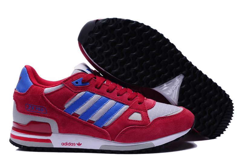 adidas zx 750 retro running jogging men shoes 2018N wto red gray