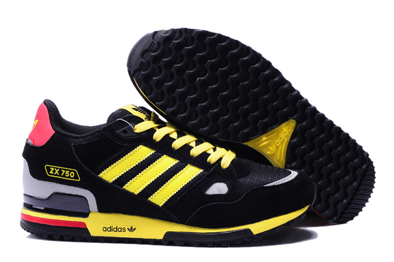 adidas zx 750 retro running jogging men shoes 2018N wto yellow black