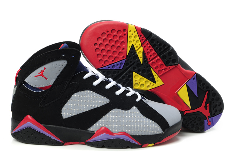 air jordan vii 2018N style gray black red,air jordan donna retro