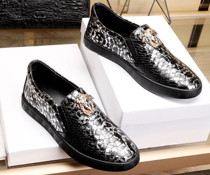 baskets versace city chaussures casual chaussures serpent cowhide,chaussures  versace contrefacon e0f5b790c45f