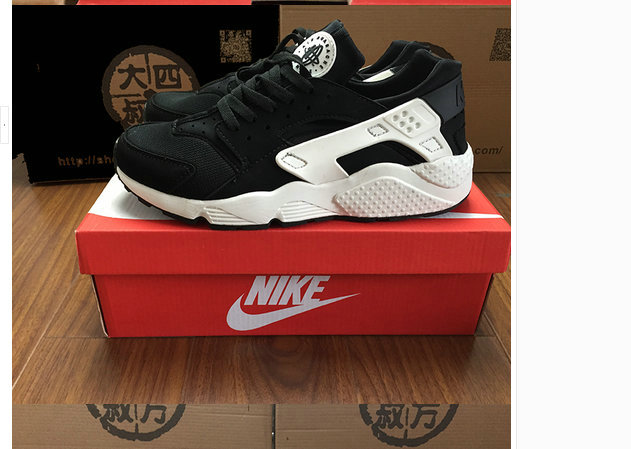 huarache nike running sports donna club oreo noir blanc
