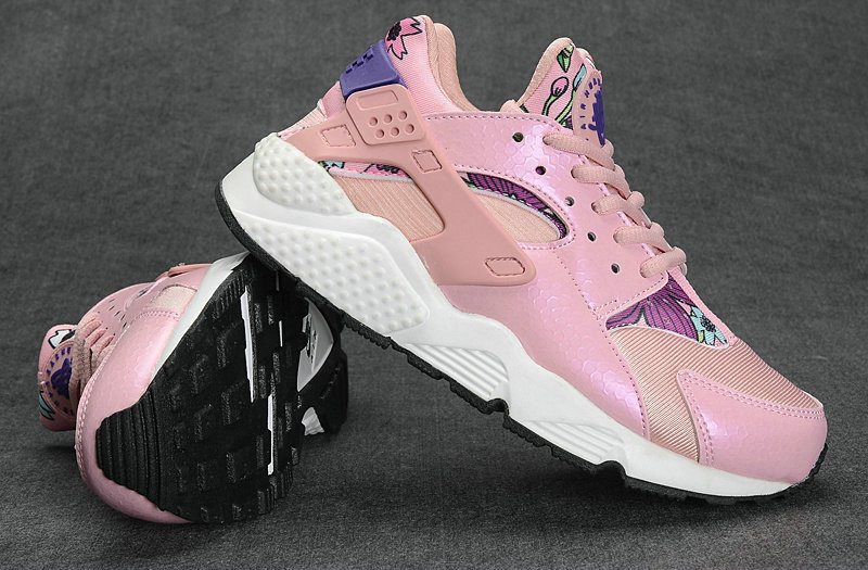 huarache nike running sports donna club tissu net rose