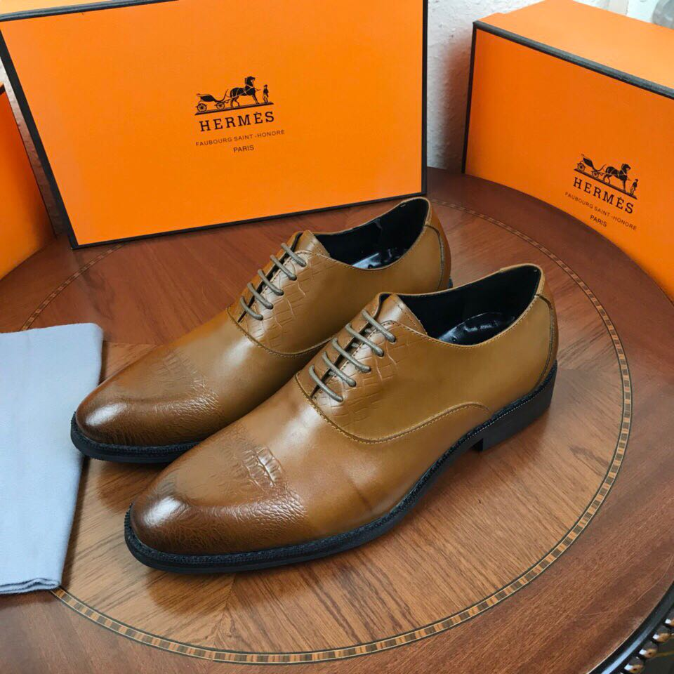 mocassins shoes hermes pas cher imported cattle skin frenulum brown