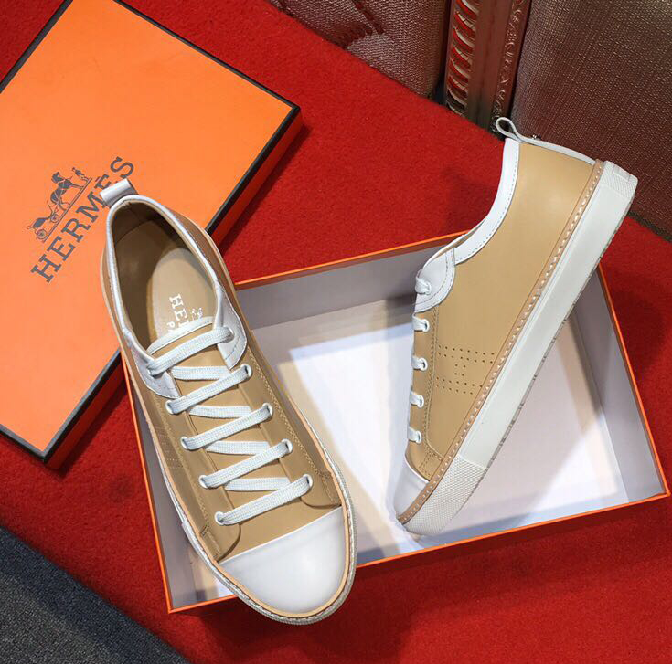 mocassins shoes hermes pas cher imported cowhide embossing h abricot